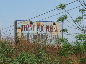 Welcome to Pleiku, Vietnam sign